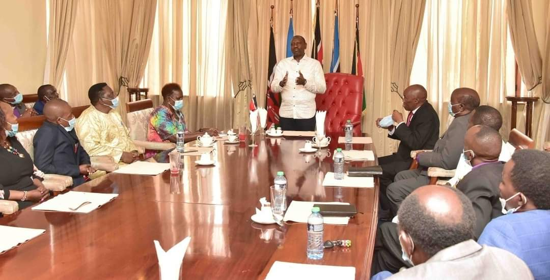 Dr.William Ruto held talks with faith leaders led by Bishop Daniel Nzioka and others from Kitui,Makueni and Machakos counties;